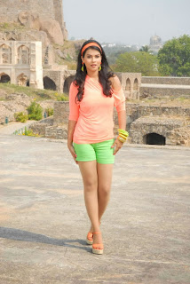 Actress Sharmila Mandre Latest Picture Gallery in Green Shorts 0015