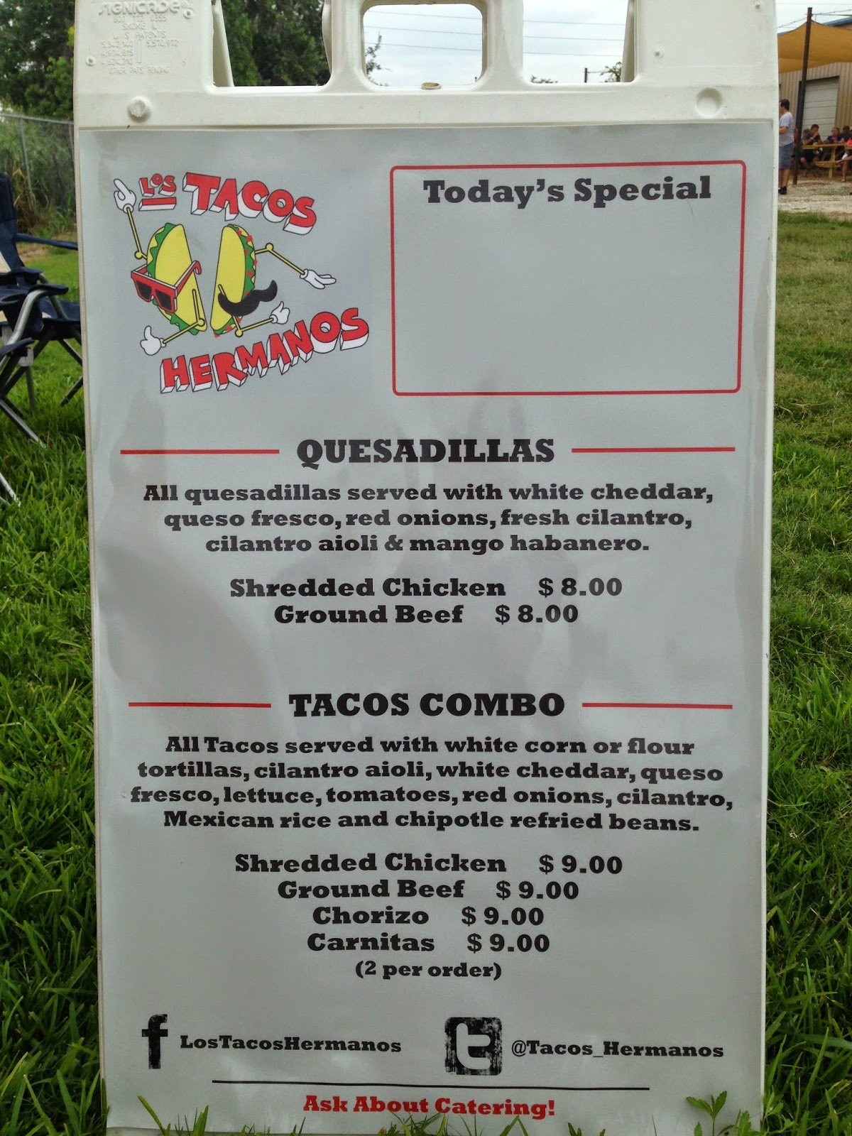 Los Tacos Hermanos Food Truck, Houston TX Menu