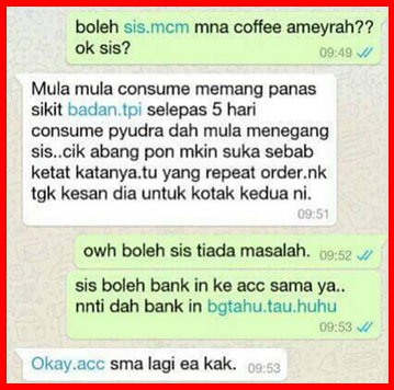 testimoni ameyrah coffee collagen