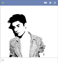 Justin Bieber Facebook Emoticon