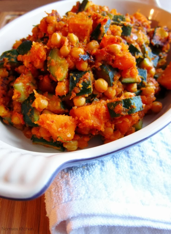 Butternut Squash, Courgette and Chickpea Hash (vegetarian) | Nomsies Kitchen
