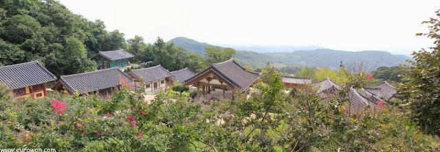 Vista del templo Buseoksa desde lo alto
