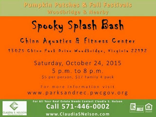 Pumpkin Patches, Fall Festivals in Woodbridge VA & Nearby Spooky Splash Bash Chinn Center Lake Ridge