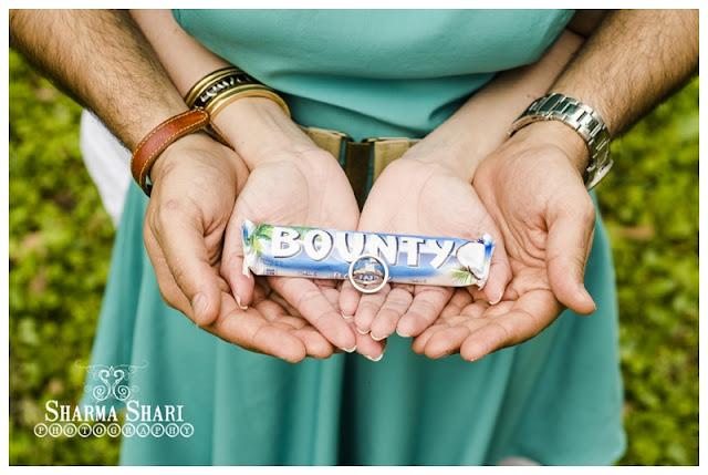 Bounty Chocolate Bar Ring Shot