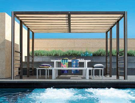 pergolas de hierro para tu jardn terraza etcpuedes tener sombra a la vez que decoras