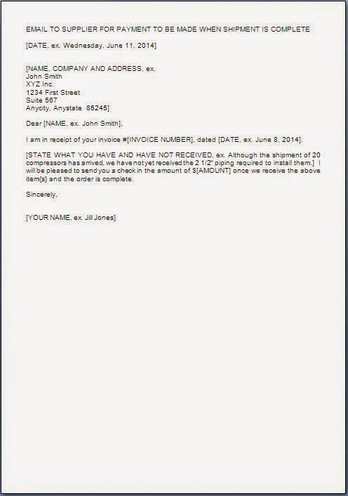 every bit of life payment assurance letter on receipt of