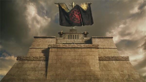 """Captura de la bandera Targaryen en """"Juego de Tronos 4x04"""""""