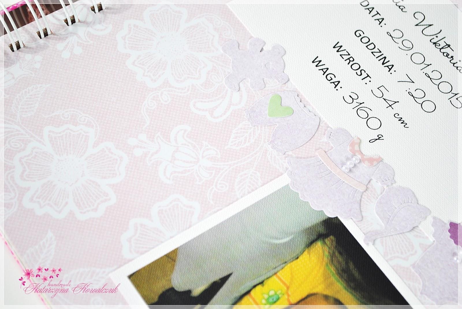 kartka i album pamiątka chrztu świętego scrapbooking