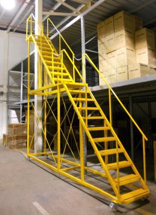 Hpc tecnologias escaleras rodantes para almac n for Normas de seguridad para escaleras fijas