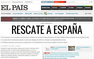 La web de El País adelanta la notica del rescate a España