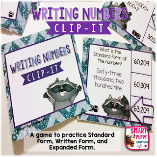 https://www.teacherspayteachers.com/Product/Place-Value-Writing-Numbers-in-Different-Forms-Clip-It-Card-Game-for-Centers-2086370