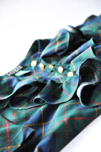 лонгслив шотландская клетка