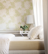 Thibaut Reverie Cream on Green T764