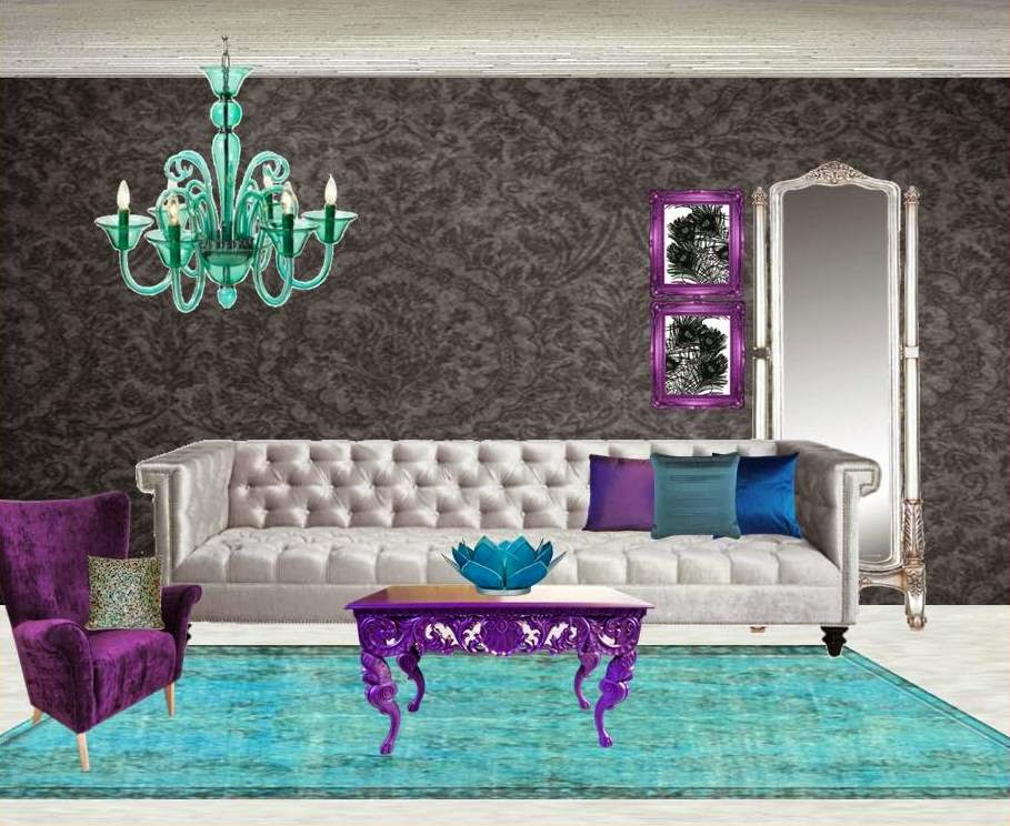 Beautiful Peacock_color_themed_moodboard_livingroom_quirkitdesign