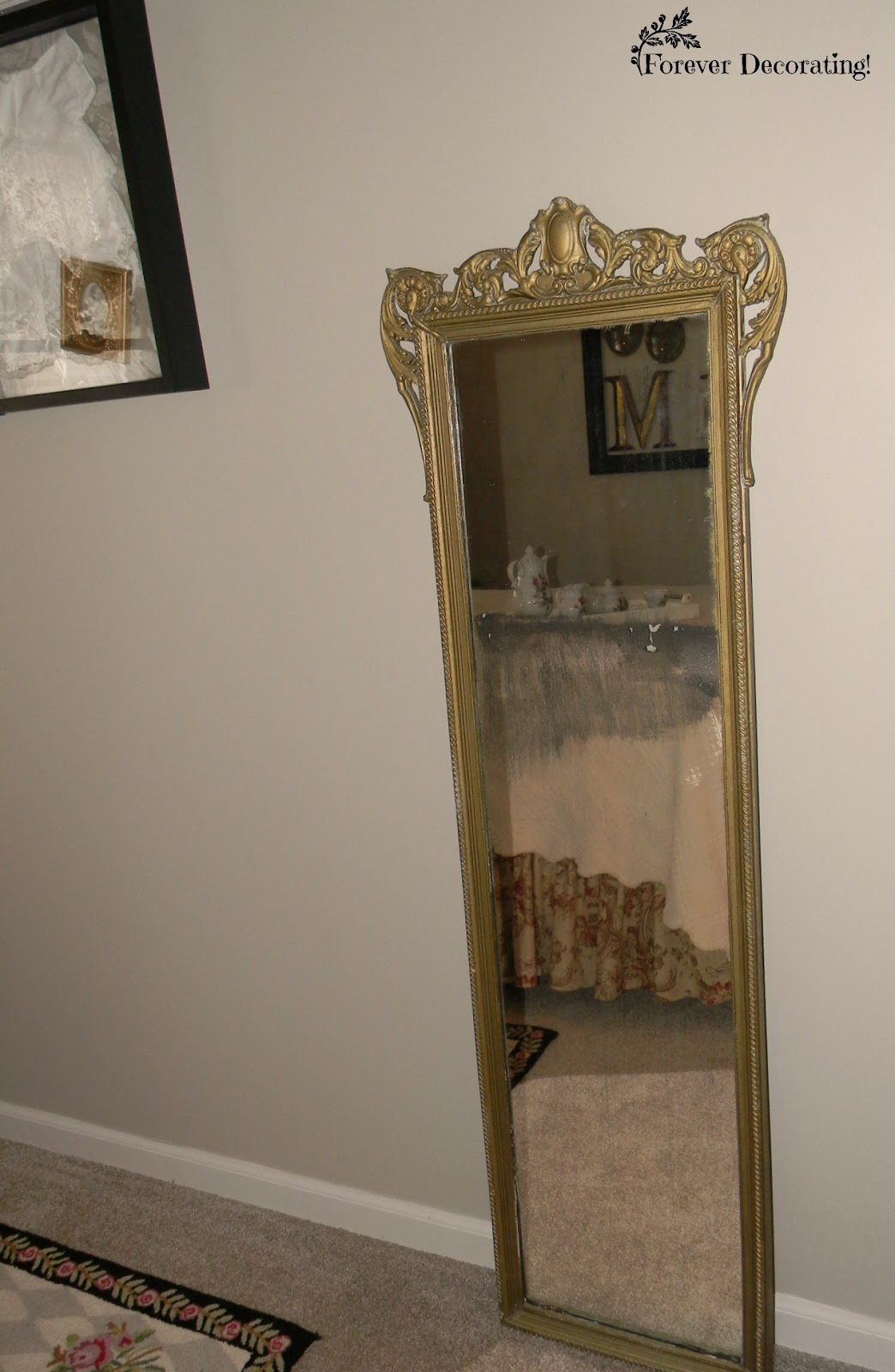 Forever decorating guest bedroom reveal mackenzie for Cool full length mirror