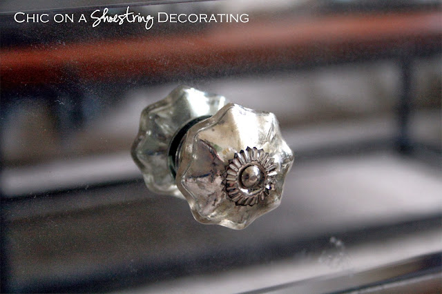Chic on a Shoestring Decorating blog, mirrored table