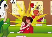 juegos de besos kissing in class