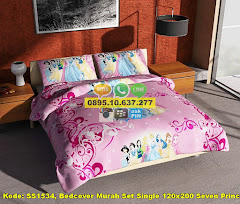 Harga Bedcover Murah Set Single 120×200 Seven Princess Jual