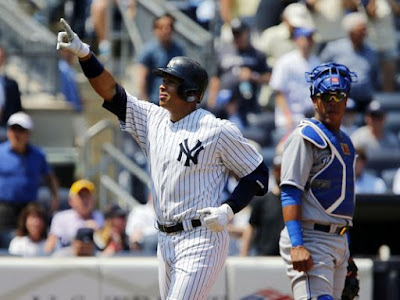 Alex Rodriguez passes Lou Gehrig for sole possession of fourth place on the all-time RBI list.