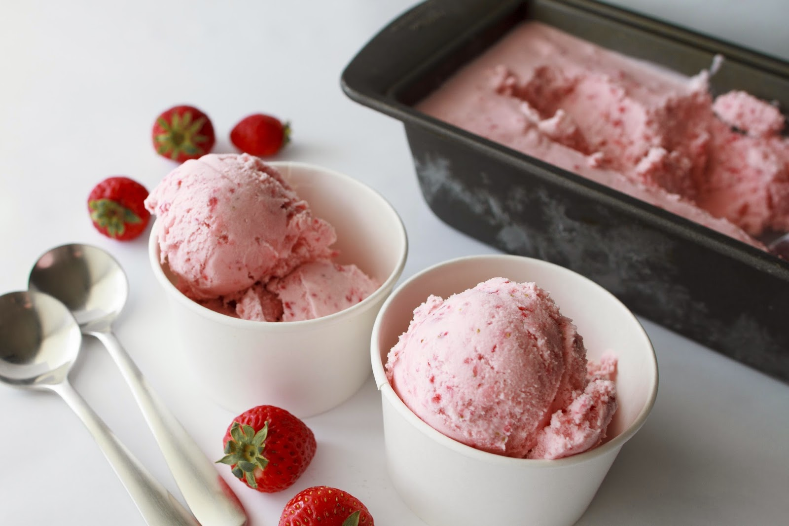Easy Strawberry Ice Cream in 30 minutes! | My Name Is Snickerdoodle
