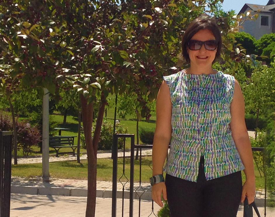 dikiş moda bluz kolsuz yazlık retro model Burda 1956 blog kendindik.com DIY