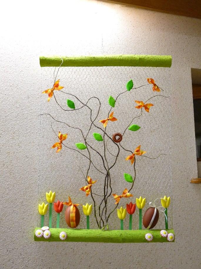 Le petit monde de bidule d coration pascale for Decoration fenetre printemps