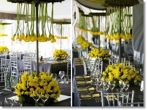 påskdukning, gul dukning, påskliljor dukning, påskliljor