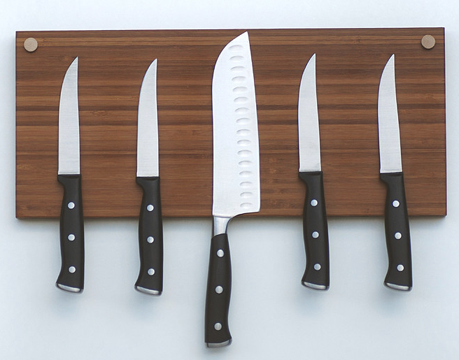 Small Space Kitchen Tip: Use a Double Magnetic Knife Holder