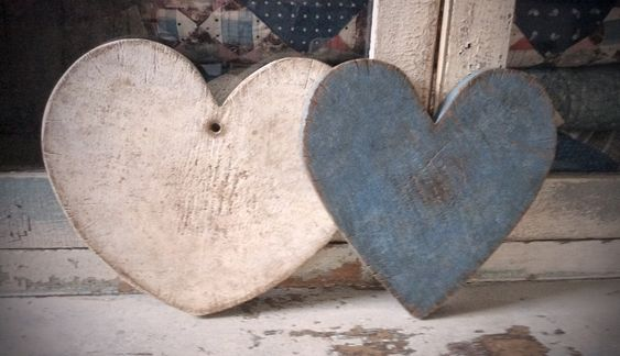BLUE AND WHITE HEART CUTTING BOARDS