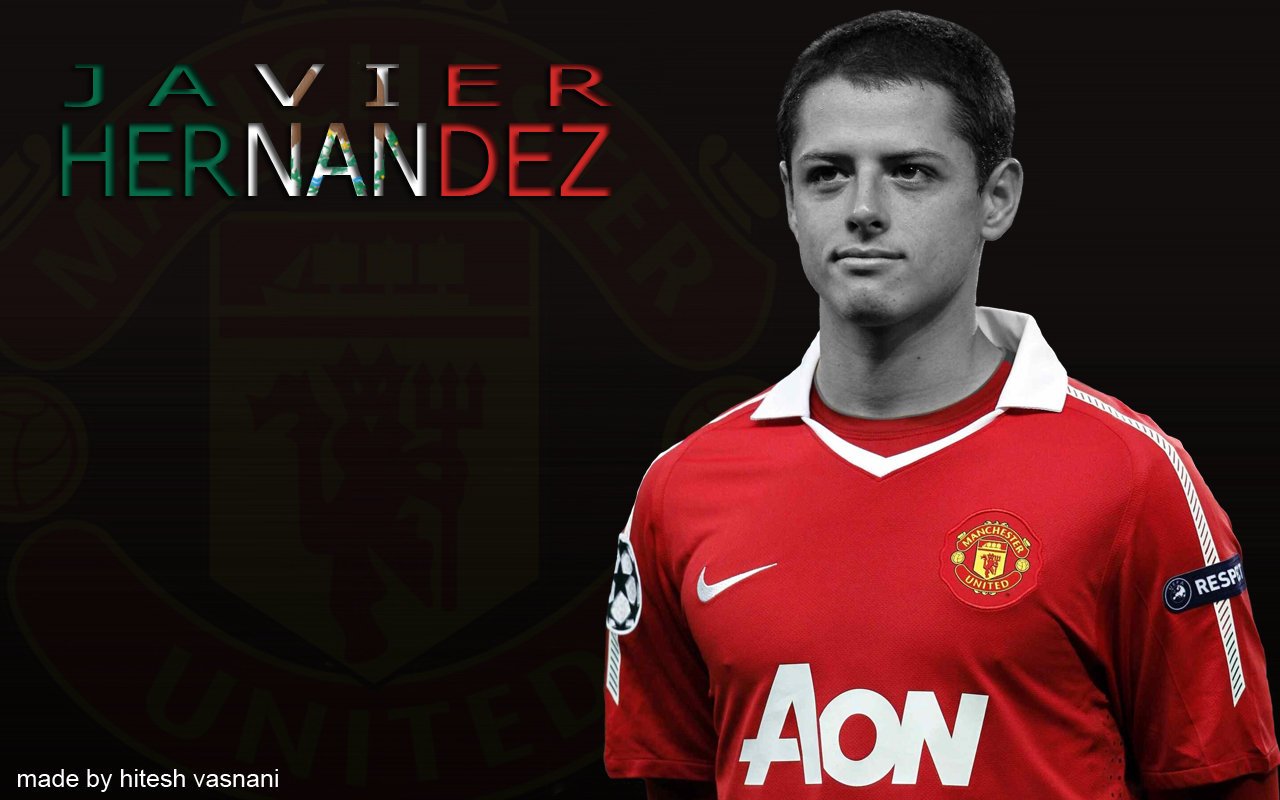 chicharito man united wallpaper, mexico young player, javier hernandez