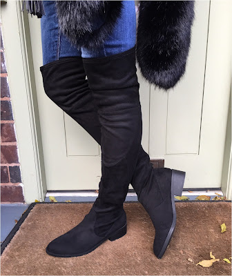 My Midlife Fashion, Schuh Dash Over The Knee Boots