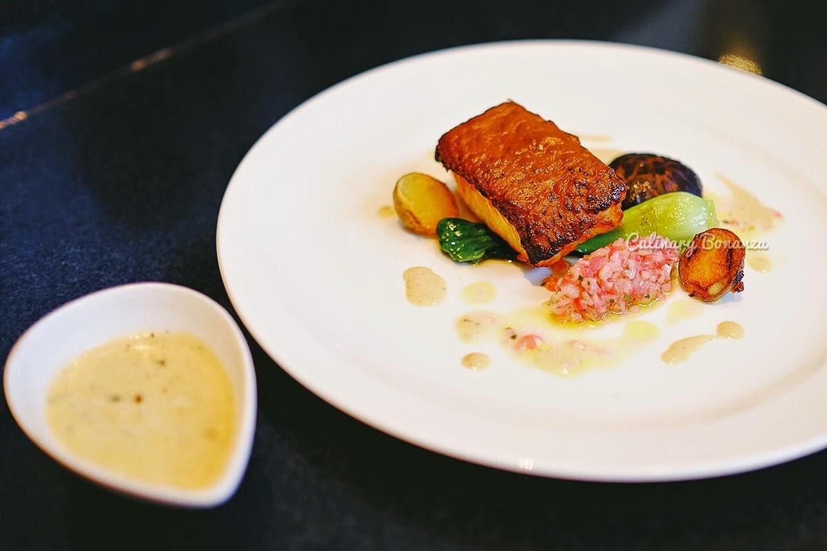 Chilean sea bass with dark miso glaze, bok choy and rosa apple salsa by Chef Denny Gunawan at Hilton Bandung (www.culinarybonanza.com)