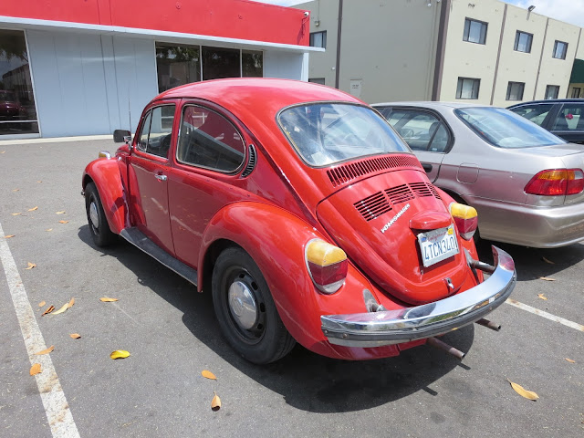 1974 Volkswagen Beetle with complete car paint job from Almost-Everything Auto Body