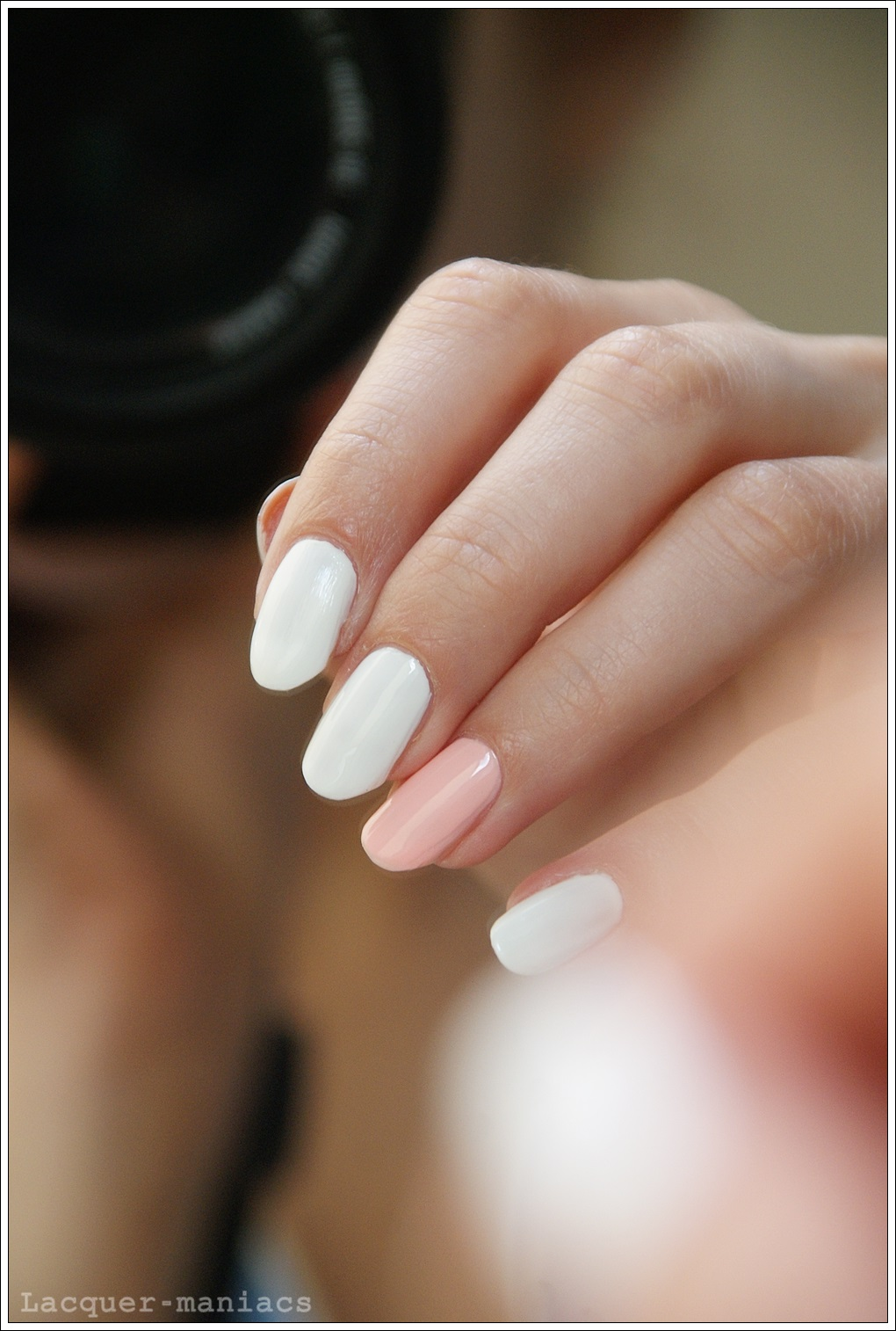 Sally Hansen White Out & Models Own Strawberry Tart