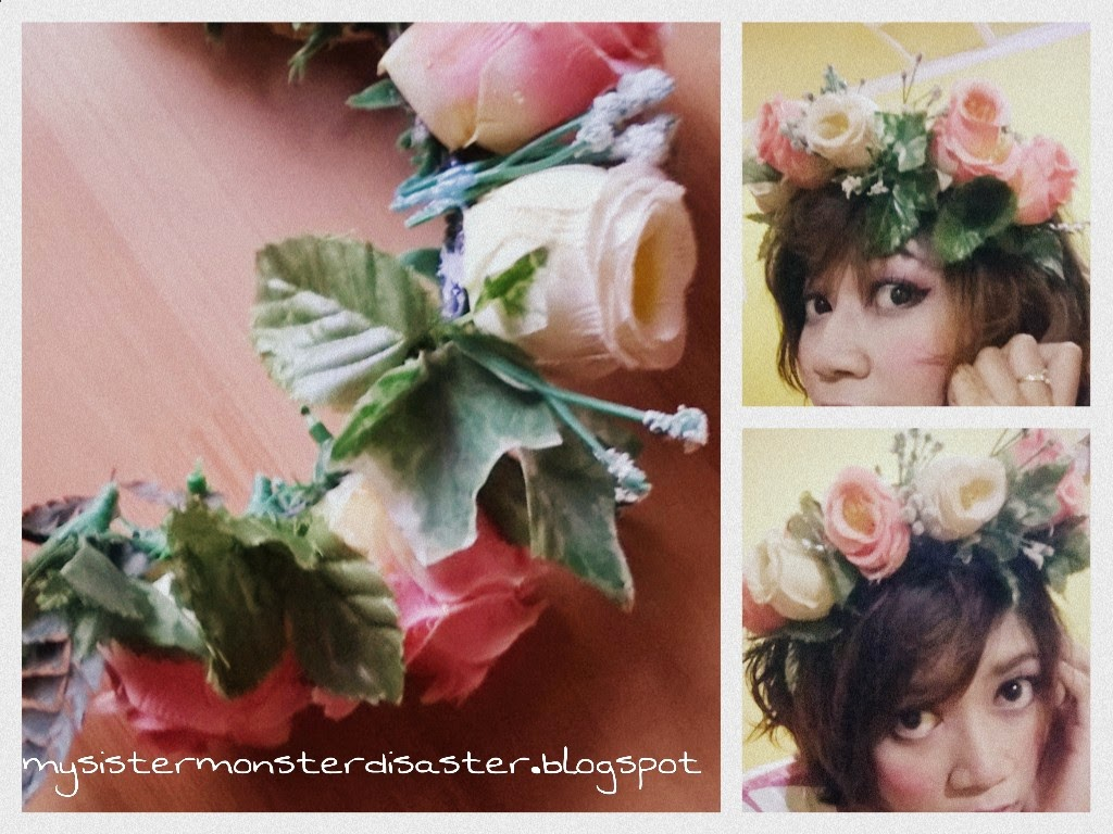 Diy flower crown tutorial mysistermonsterdisaster diy flower crown izmirmasajfo