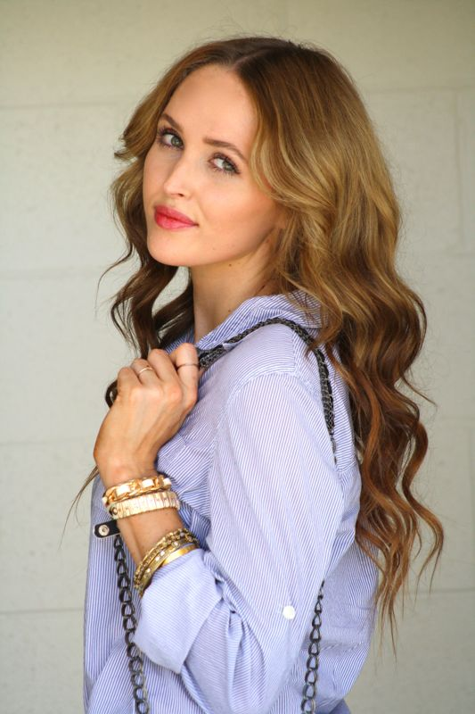 Beachy Waves hair, personal style blogger, summer style