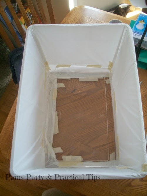 make your own light box , how to make a light box