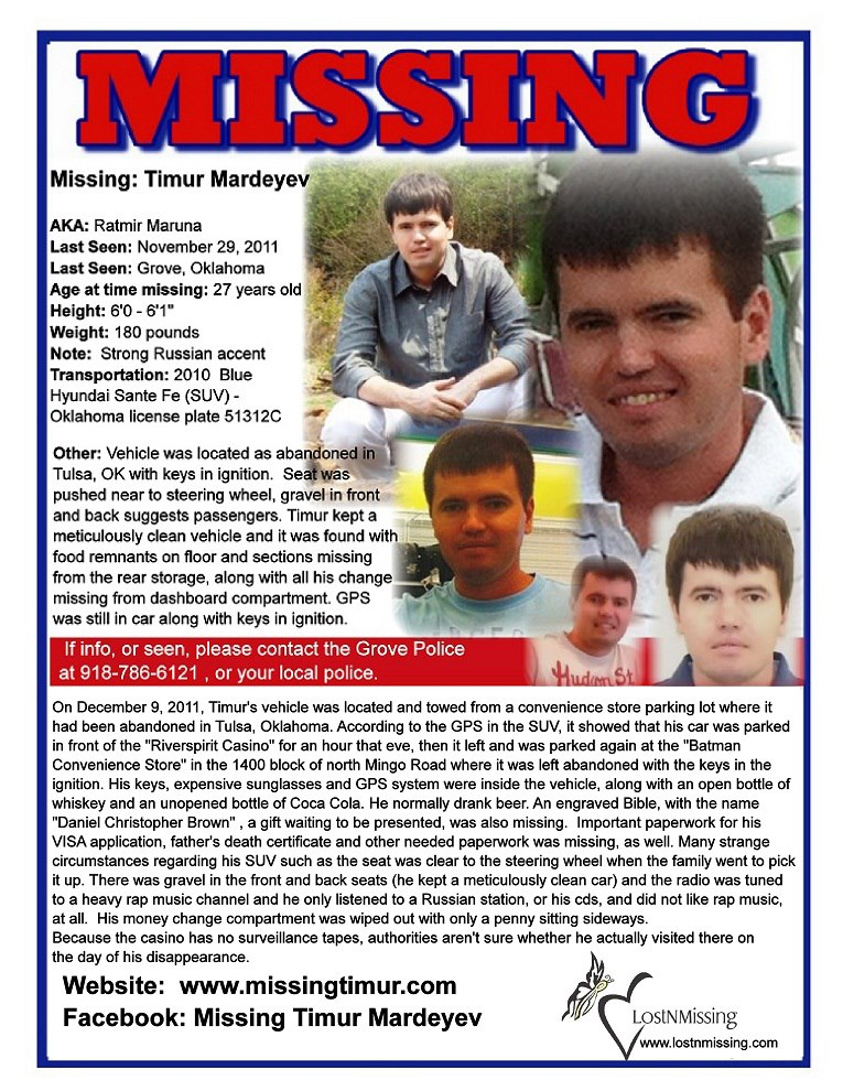 Missing Tracy Myers, Missing Matthew Lein, Missing Justin Gaines