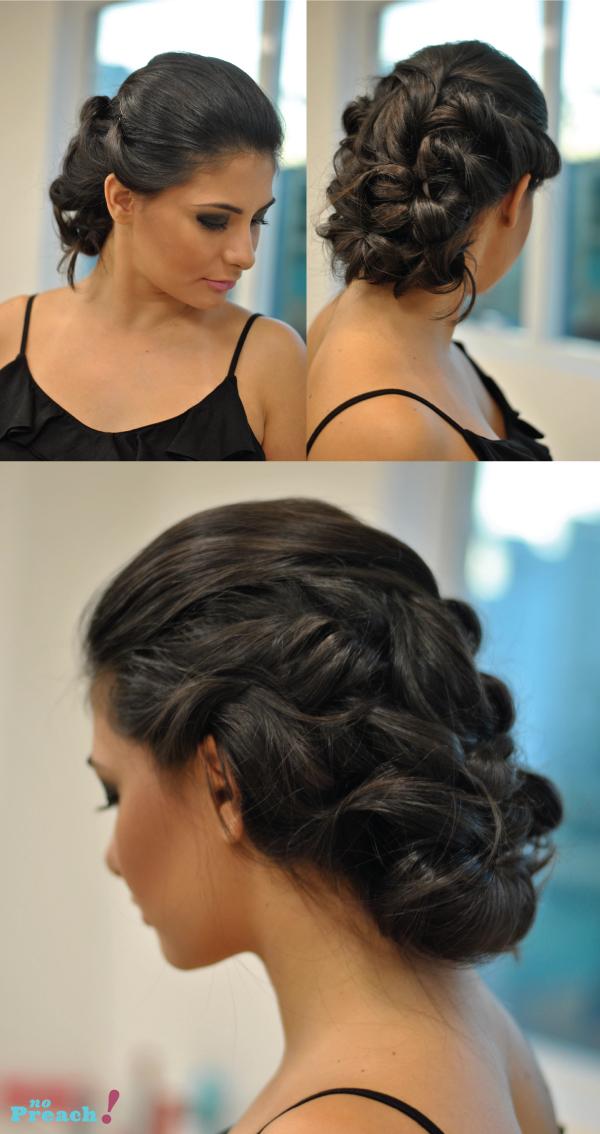 penteado de cabelo para festa de casamento, formatura, 15 anos