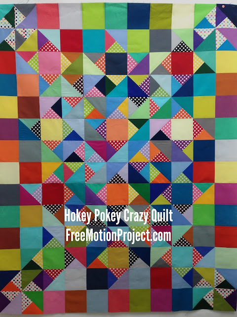 hokey pokey crazy quilt | Leah Day