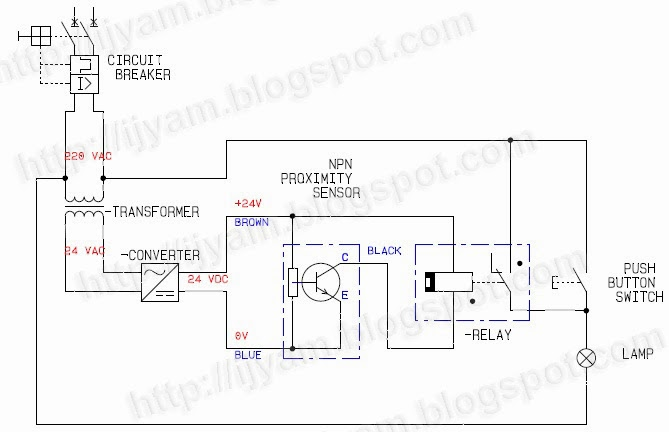 wiring connection for a three wire solid state dc proximity sensor Home Stereo System Wiring Diagram circuit for plc and wiring diagram