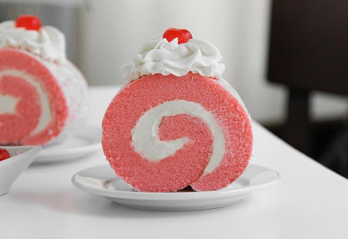 Pink Velvet Cake Images : Pink Velvet Roulade Sprinkle Bakes