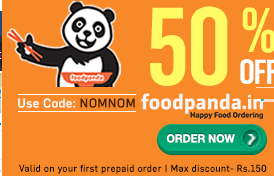 Flat 50% Off Food Order on Foodpanda Max Rs 200 Off.