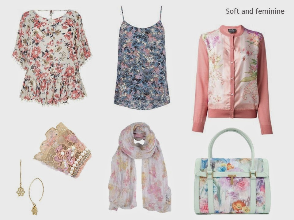 soft and feminine floral prints in garments and accessories