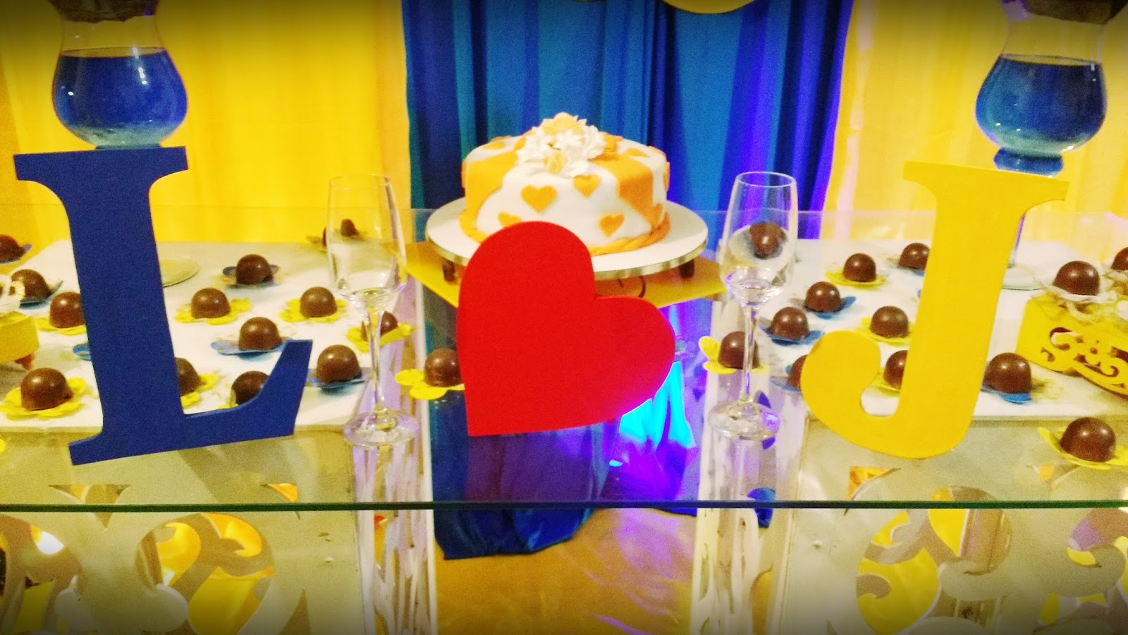 decoracao azul e amarelo noivado:Escritora de Merda: Festa de Noivado Azul e Amarelo