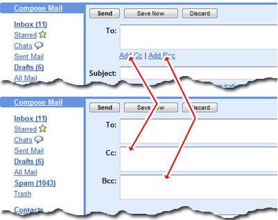 Cc और Bcc से ईमेल कैसे भेजें