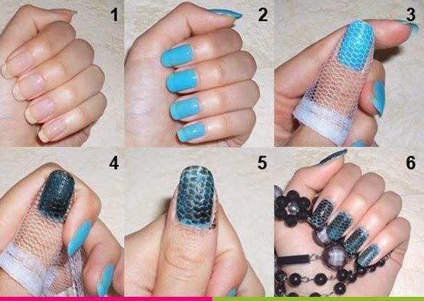 Olga Yas beauty-blog : Хорошая идея. Маникюр змеинная кожа.