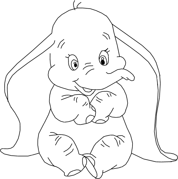 Disney Character Drawings Dumbo Coloring Pages