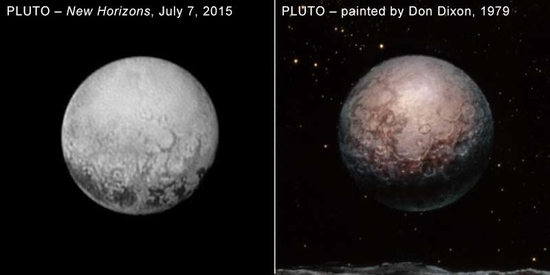 Pluto News NASA info New-horizons-pluto-20150715-dixon-painting-compared
