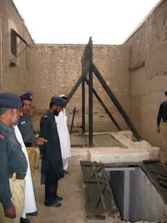 Gallows in Pakistani prison